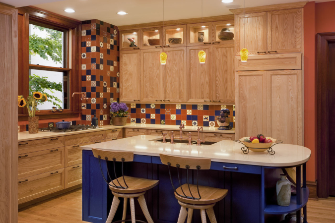 Artisanal Southwestern elements for Arts & Crafts Kitchen