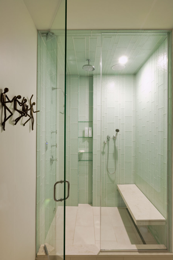 Contemporary Master Shower for original Arts & Crafts home