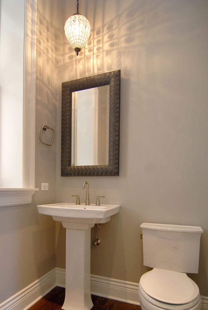 Custom Powder Room in complete Home Renovation