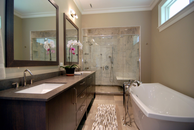 Master Bathroom in completely renovated vintage home